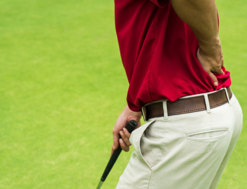 Back ache while golfing? Here are a few tips on how to prevent that from happening